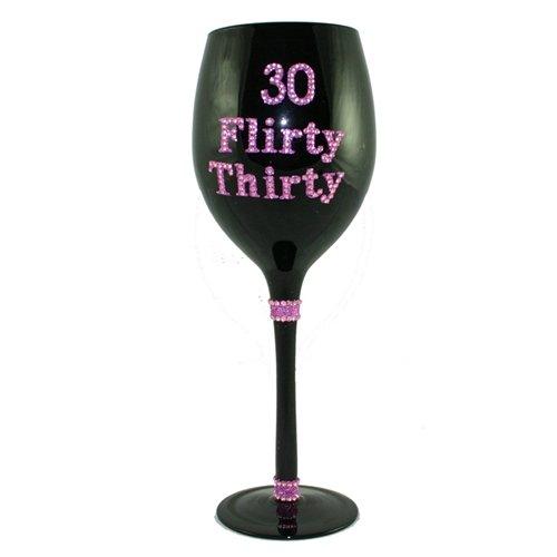 Glitter Flirty 30 Birthday Wine
