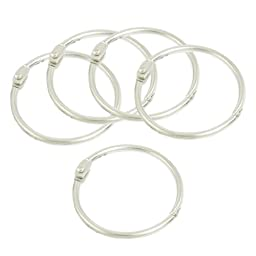Uxcell Scrapbooking Loose-Leaf Binder Rings, 5 Pieces, Silver Tone