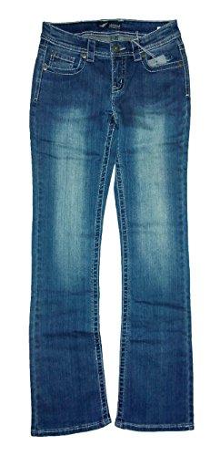 Damen Stretch Jeans Arizona Bootcut Flügel Stickerei Nieten blue used Größe 36