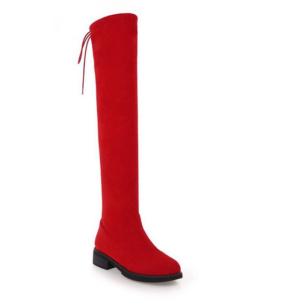 AN DKU02549 Damen Durchgängies Plateau Sandalen mit Keilabsatz Rot - rot - Größe  EU 37