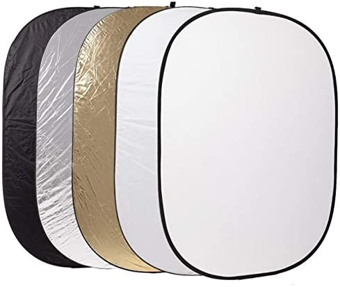 WQYRLJ 5 in 1 Background Board Collapsible 6090Cm Photography Light Diffuser Round Reflector Disc for Photo Studio Portrait and Product Reflectors