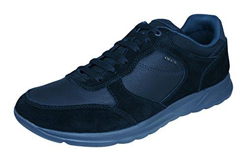 Geox Men's Damian 5 Fashion Sneaker, Black, 42 EU/9
