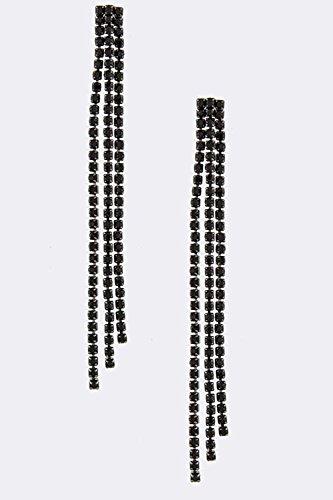 KARMAS CANVAS CRYSTAL DROP EARRINGS (Trifari Hematite Earrings)