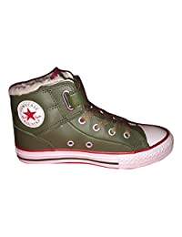 Converse Juniors Chuck Taylor Loopback Mid Shoes Grape Leaf