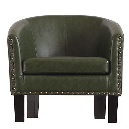 Rosevera C2LG Duilio Barrel Chair, Olive Green