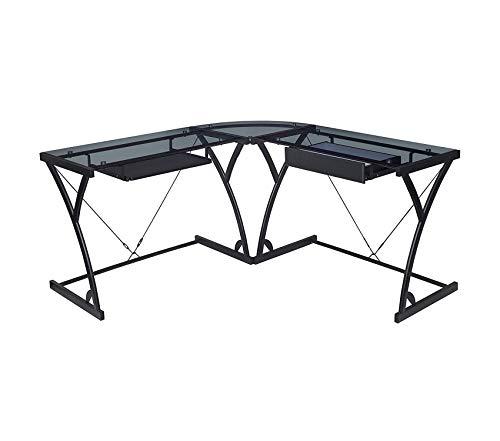 (Rеgеncy Soho Computer Corner Desk- Smoked Glass)