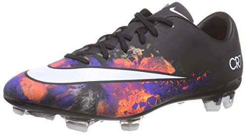 Nike Mens Mercurial Veloce II CR Fg Black/White/Total Crimson Soccer Cleat 11 Men US