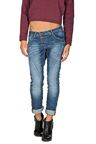 PLEASE - P78 jeans pantaloni da donna stropicciato s denim