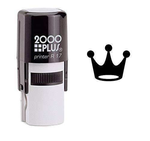 StampExpression - Jester's Crown Self Inking Rubber Stamp - Black Ink (A-6513) ()