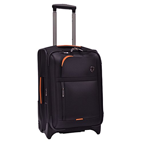 Traveler's Choice  Birmingham Lightweight Expandable Rugged Rollaboard Rolling Luggage - Black - 21 Rolling Luggage