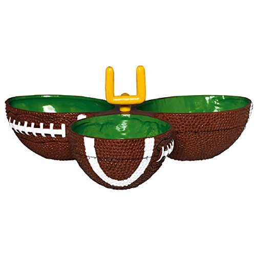 """Amscan Football Frenzy Birthday Party Condiment Dish Tableware, Plastic, 9"""" x 2"""" Supplies (6 Piece)"""