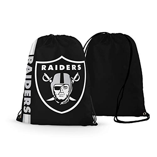 GF-sports store NFL Football Team Logo Drawstring Backpack Gym Bag - Pick Team (New England Patriots) (Oakland Raiders)
