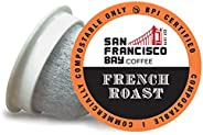 SF Bay Coffee OneCUP French Roast/Dark Roast 80 Ct Compostable Coffee Pods, K Cup Compatible Including Keurig