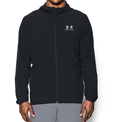 Under Armour Men's Sportstyle Wave Jacket,Black /Silver, Medium