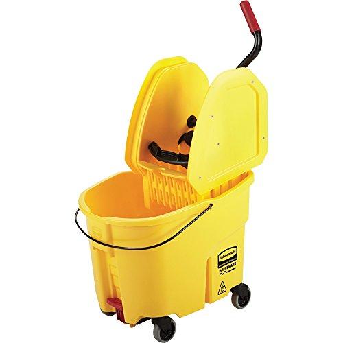 RCP757788YL - Rubbermaid WaveBrake Down Press Combo Mop Bucket
