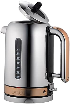 Dualit Classic Kettle 72820 - Chrome with Copper Trim