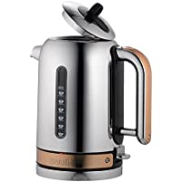Dualit Classic Kettle, Chrome with Clay Trim 72813