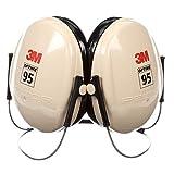 3M™ Peltor™ Optime 95 Behind-the-Head Earmuffs, H6B/V, black/tan