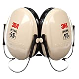3MTM PeltorTM Optime 95 Behind-the-Head Earmuffs, H6B/V, black/tan - 6300