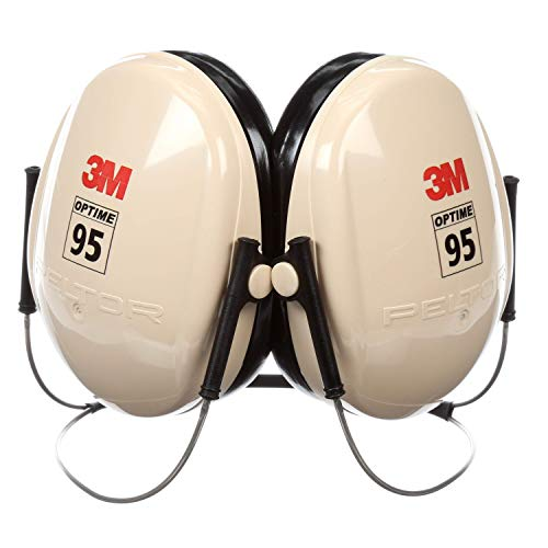 (3M Peltor Optime 95 Behind-the-Head Earmuffs, Hearing Conservation H6B/V)