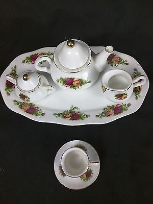 ROYAL ALBERT OLD COUNTRY ROSE 8 PIECE MINI TEA SET. ( NEW WITH BOX) by Unknown