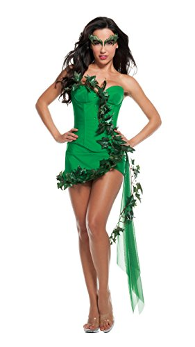 Starline Sexy Ivy Girl Cosplay Women's Costume, Green, Small (Girls Poison Ivy Costume)