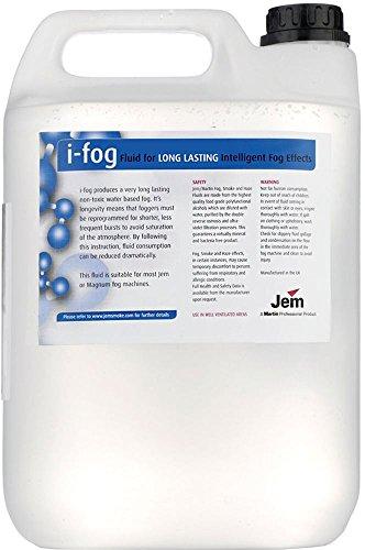 Martin Jem I-Fog Fog Fluid 5 Liter (1.32 Gallon) Fog Machine Fluid (Martin Fog Machine)