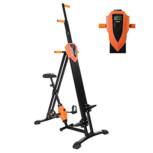 2 IN 1 Vertical Climber Magnetic Exercise Bike Body Trainer Fitness Machine Gym Cycle for Home,Office(US STOCK)-O