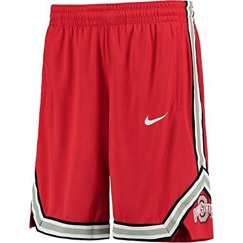 Ohio State On Court Basketball Shorts - Scarlet (Medium) ()