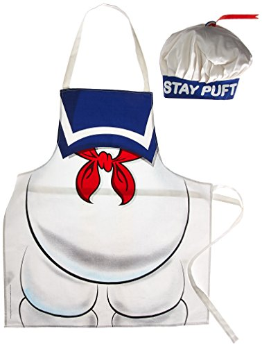 Cryptozoic Entertainment Ghostbusters Stay Puft Apron & Hat Costume]()