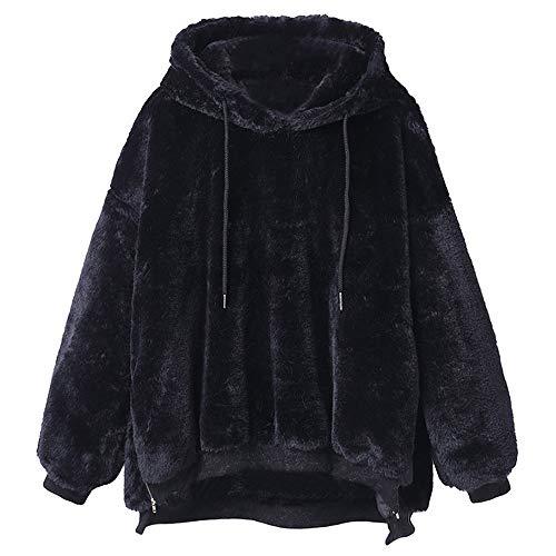 giacca Pelle Moda Bazhahei donna Top Inverno Maniche Donna Maglieria Maglione Cappotto Lunghe Casuale Nero Calda Giacca Cardigan Autunno Lana cappotto Di YngIq