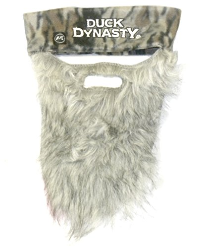 Duck Dynasty Phil Gray Beard with Attached Camo (Duck Dynasty Si Robertson Halloween Costume)