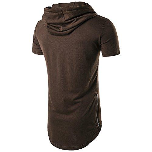 Café Hommes shirt T Manches Haut Ripped Courtes Chemisier Morchan Trou Casual SwCxTq11Z