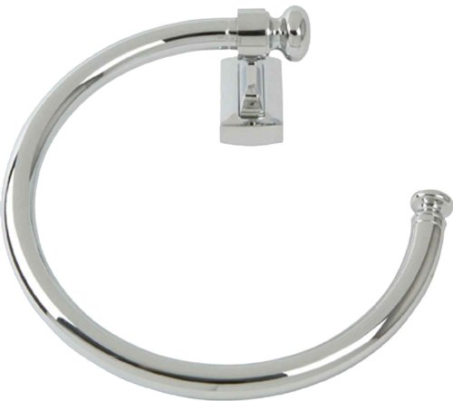 Atlas Homewares LGTR-CH Legacy Collection 8-Inch Towel Ring, Polished Chrome ()