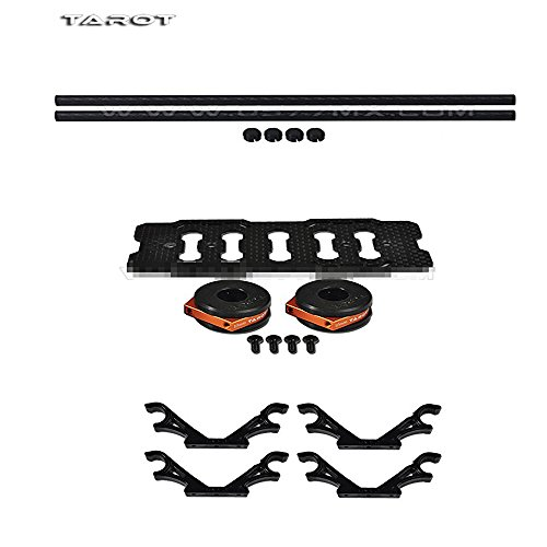 Power Rackmount Guard (Tarot DIY Multi Rotor Drone Helicopter Assembly Kit: Fy680 650 Inverted Battery Rack Mount Tl68b14 + 4Pcs 2-Axis FPV Gimbal Camera Mount Suspension Hook + 10MM 3K Carbon Fiber Tube Boom 280MM TL68B22)