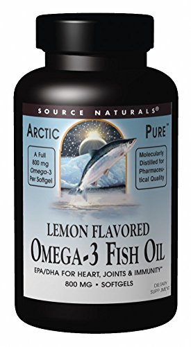 - Source Naturals ArcticPure Omega-3 Fish Oil 800mg Maximum Potency EPA + DHA For Heart, Joint, Brain & Immune Health - Non-Fishy Lemon Flavor - 120 Softgels