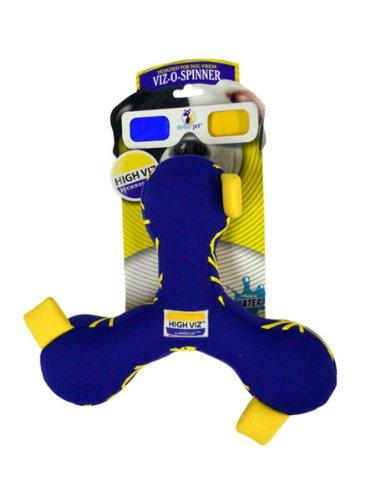 Romp! High Viz Viz-O-Spinner, Floating Fetch and Retriever Dog Toy (Colors Vary), My Pet Supplies