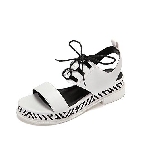 Ladies, Low Heel schuhe.,Dicke Bottom Sandalen Mit Geometrischen Mustern A