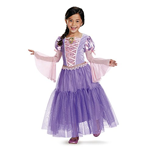 [Disguise Rapunzel Deluxe Disney Princess Tangled Costume, Small/4-6X] (5 Girl Halloween Costumes)