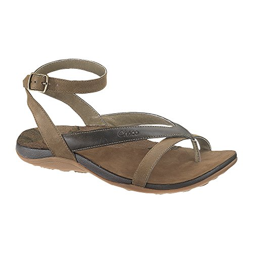 Leather Flip Flops Chaco (Chaco Women's Sofia Sandal, Dark Earth, 11 M US)