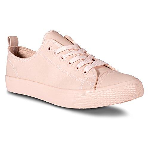 Sneaker Women's Blush Faux Low Top Twisted Leather OF4Xq6xHnn