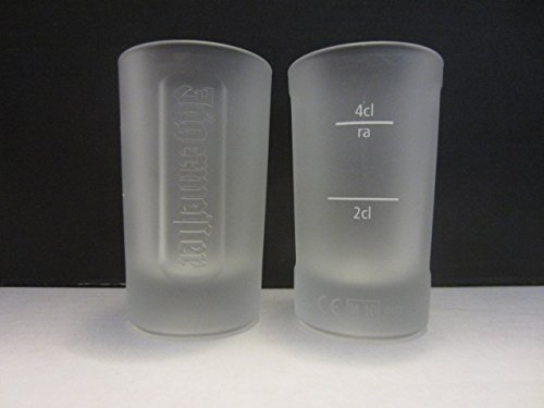Set of 2 Jagermeister Hunting Master Frosted 4cl Shooters Double Shot Glasses