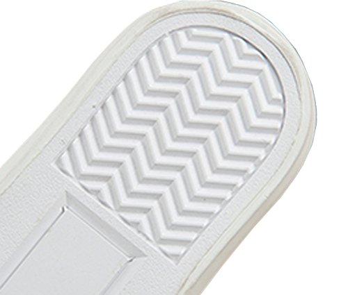 VECJUNIA Mädchen Jungen Lace up Schuhe Low Top Turnschuhe Sportlich Canvas Schuhe Textil Halbschuhe Weiß
