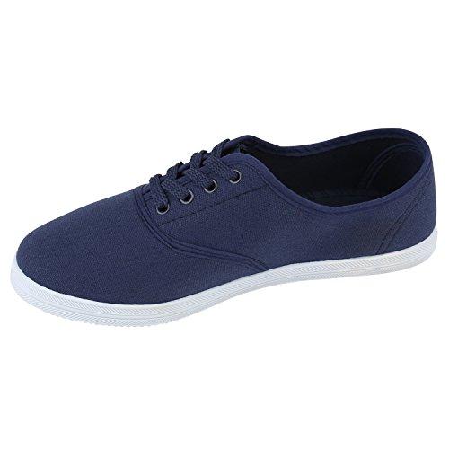 Übergrößen Blau Flandell Sneaker Herren Damen Low Dunkelblau Stiefelparadies Weiss Unisex wRqOXUw6