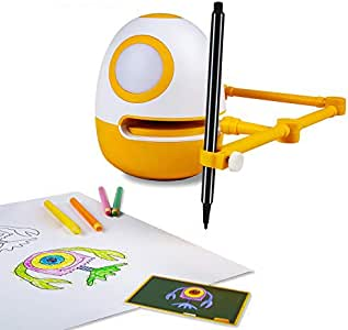 WEDRAW Educational Robots Toys - Preschool Learning Toys for 3-8,Draw Toys for Boys, Creative Drawing Robots, Learn Drawing , Counting ,Math Numbers,English Letters & Spelling Words (50 Courses)