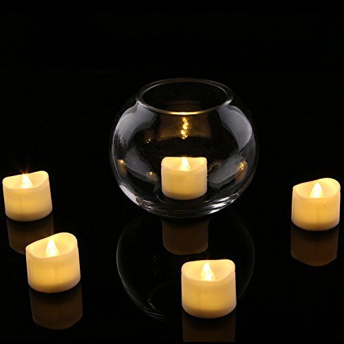 Homemory Battery Tea Lights With Timer, 6 Hours on and 18 Hours Off in 24 Hours Cycle Automatically, Pack of 12 Timing LED Candle Lights in Warm White by Homemory (Image #6)