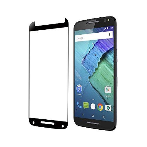 Moto X Pure Edition screen protector, Tranesca Tempered glass screen protector for Moto X Pure (Black)