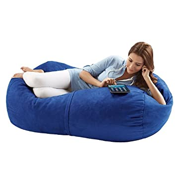 Jaxx Bean Bags Sofa Saxx Bean Bag Lounger, 4 Feet, Blueberry Micro Suede