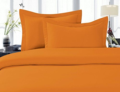 Elegant Comfort 1500 Thread Count Wrinkle,Fade and Stain Resistant 4-Piece Bed Sheet Set, Deep Pocket, Hypoallergenic - California King Elite Orange