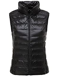 LANBAOSI Women's Packable Lightweight Down Vest Winter Puffer Vest